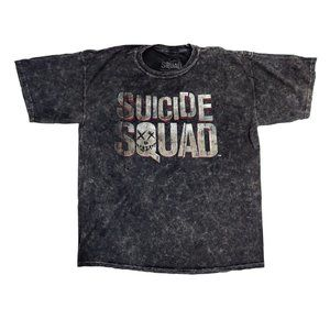 Suicide Squad Shirt Men's Large Gray Graphic Tee